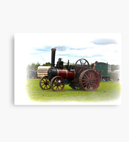Steam Traction Engine Metal Print