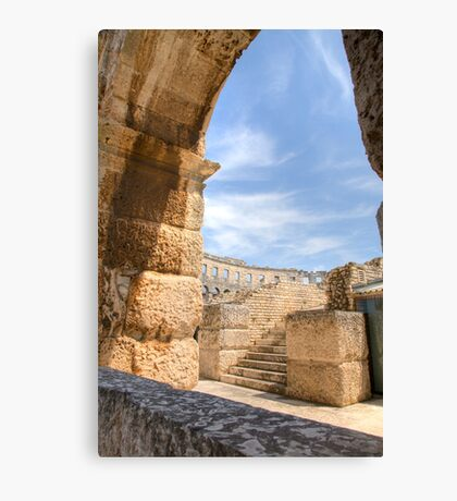 Colosseum in pula, Croatia Canvas Print