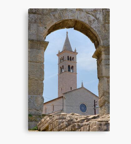 Church of St Anthony in pula Canvas Print