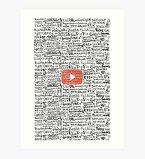 Youtube Art Print