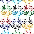 Multicolour Bicycle Print by davechaps