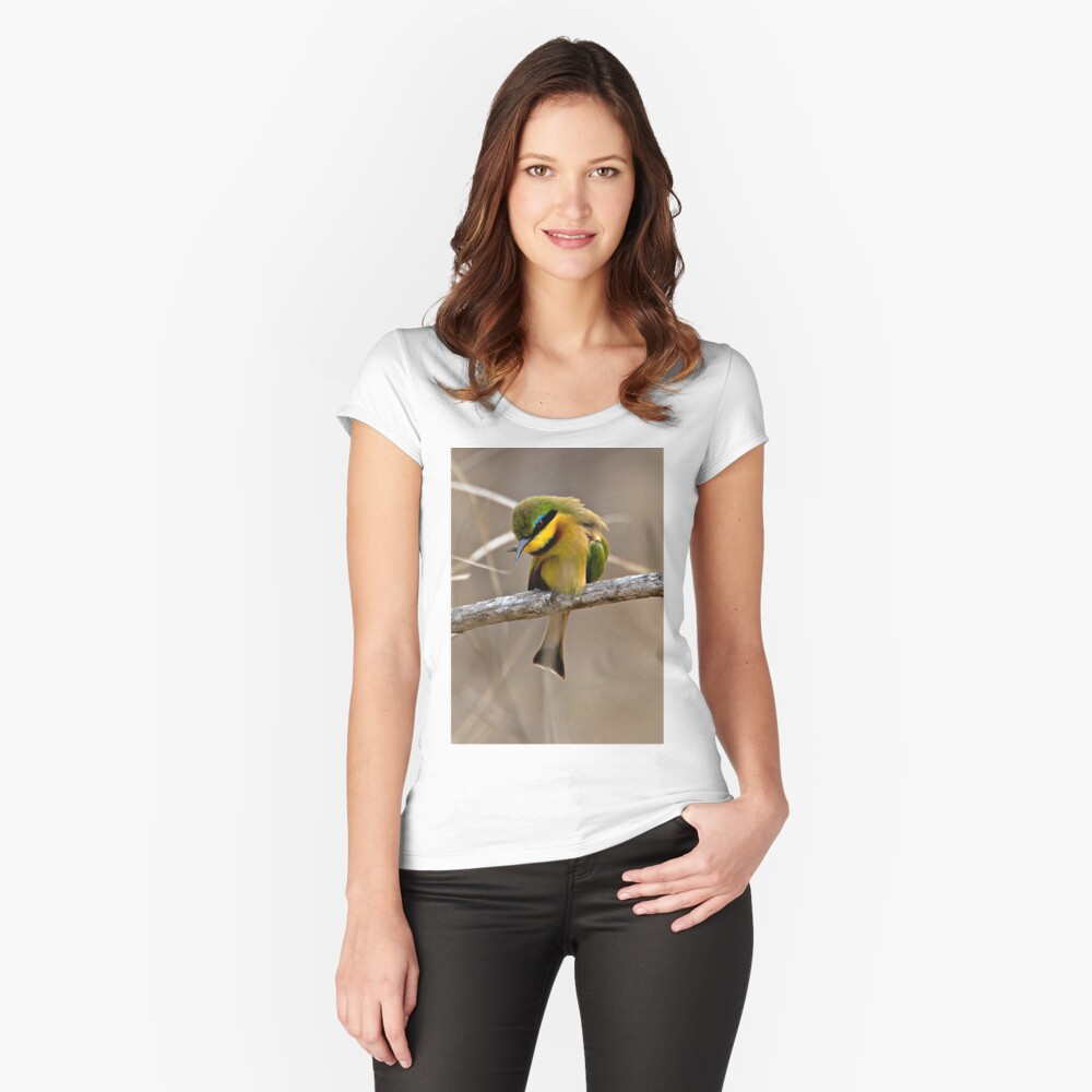 Little Bee Eater Women's Fitted Scoop T-Shirt Front