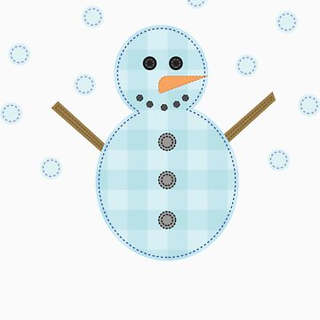 Kids Craft Snowman Tee by perkie173