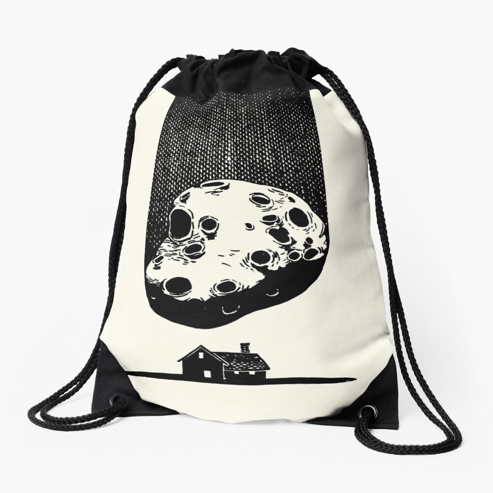 Trouble at Home Drawstring Bag