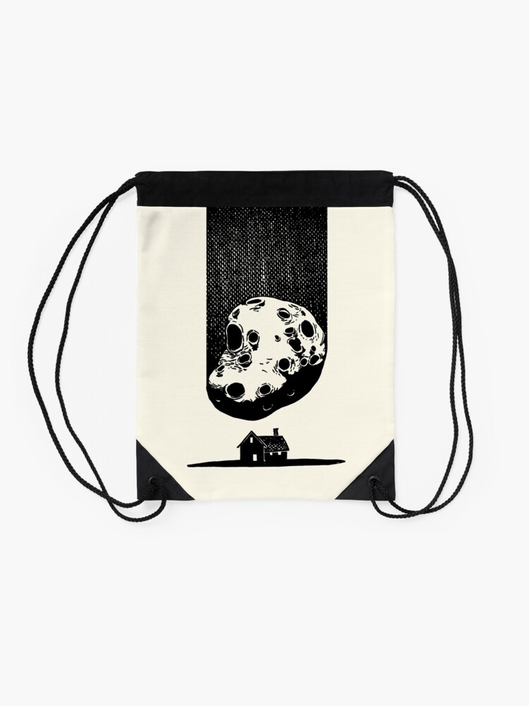 Alternate view of Trouble at Home Drawstring Bag
