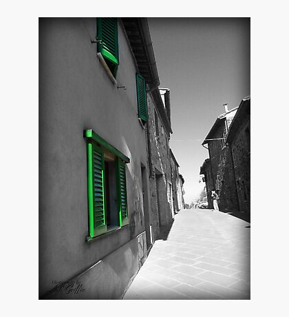 Green Shutters Photographic Print