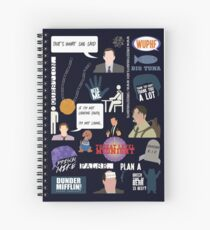 The US Office Collection Spiral Notebook