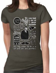 Swanson Quotes Womens Fitted T-Shirt