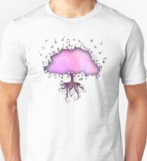 Watercolor Music Tree of Life T-Shirt