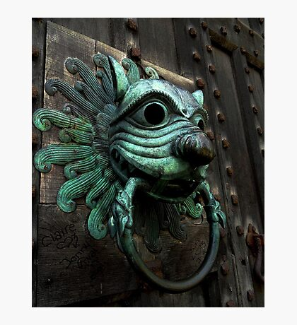 Knock if you Dare! Photographic Print