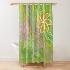 Piaia Beach Print Shower Curtain