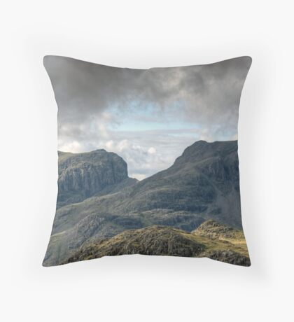 Scafell and Scafell Pike Throw Pillow