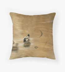 Drake and Three Hens-The Slough Series Throw Pillow