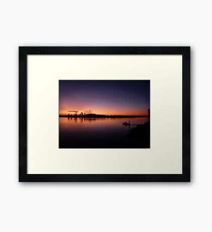 Sunset Fishermen Framed Print