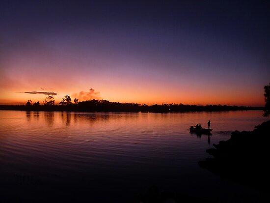Sunset Fishermen by Luke Griffin