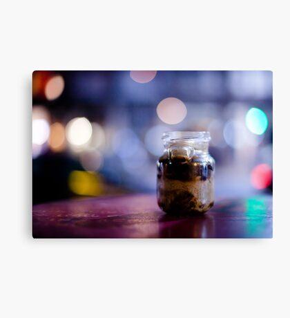 glass jar@night Canvas Print
