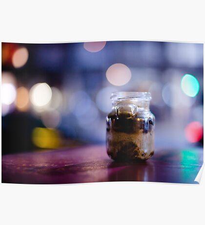 glass jar@night Poster