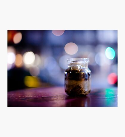 glass jar@night Photographic Print