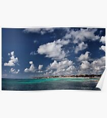 Beach near Playa de Carmen Poster