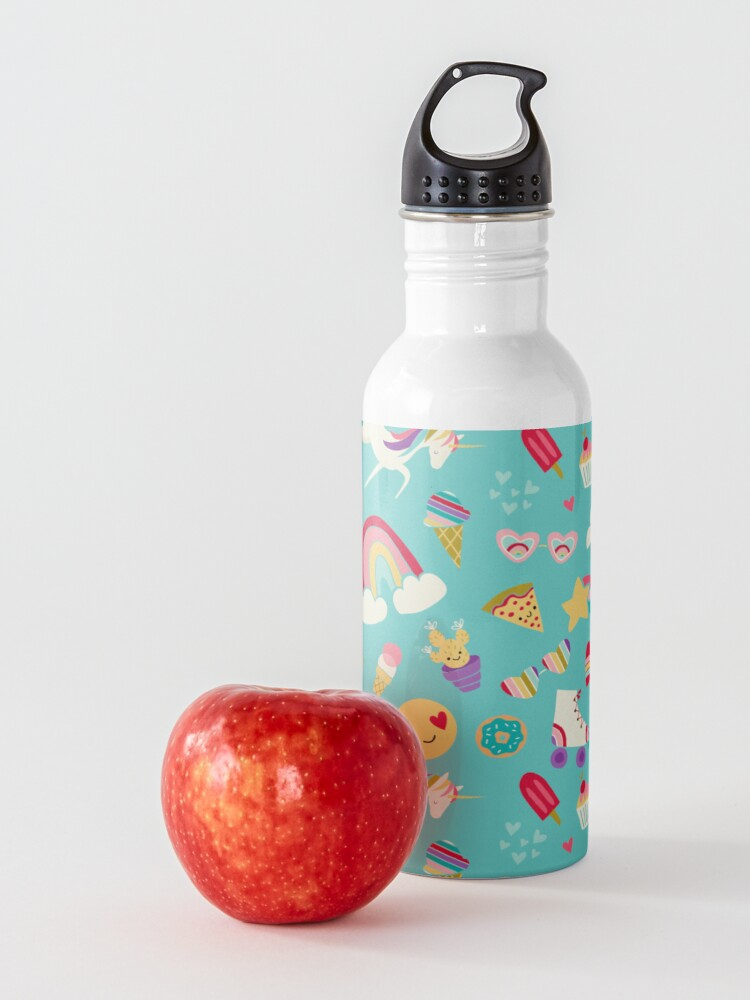 Alternate view of Tween Girl Icons Rainbows Emojis Unicorns Roller Skates Water Bottle