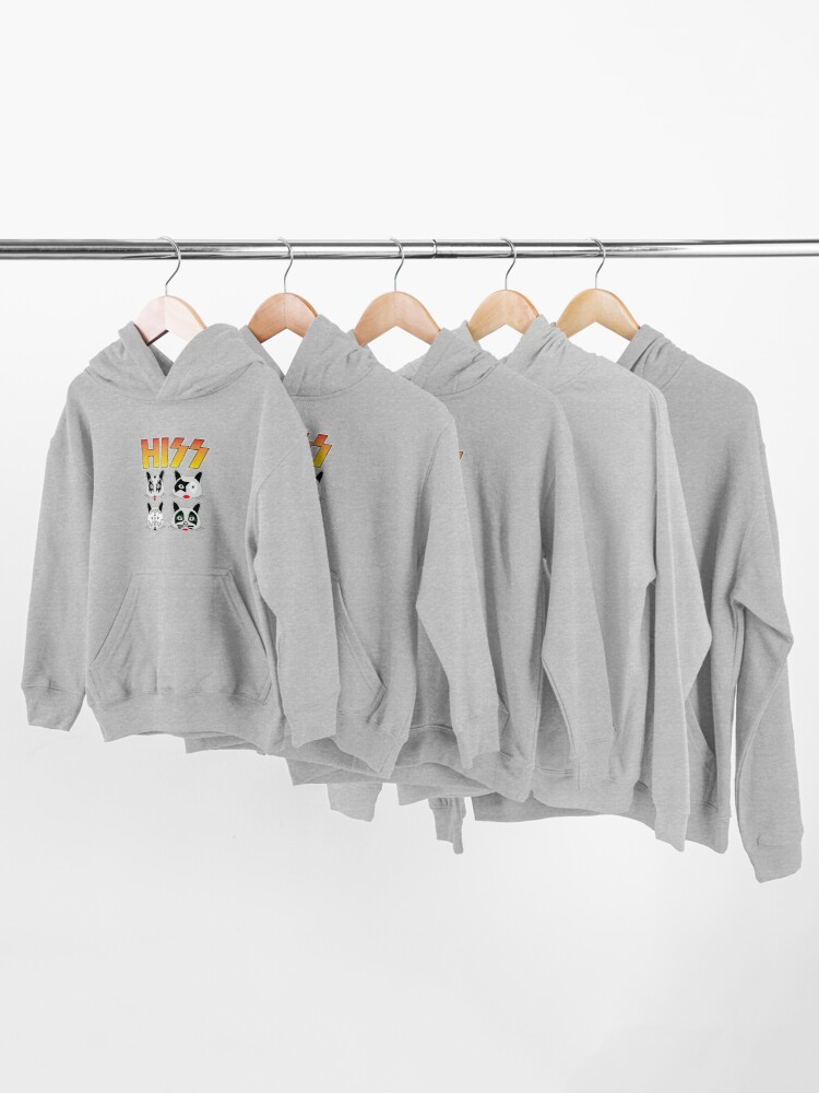 Alternate view of Hiss Kiss - Cats Rock Band Kids Pullover Hoodie