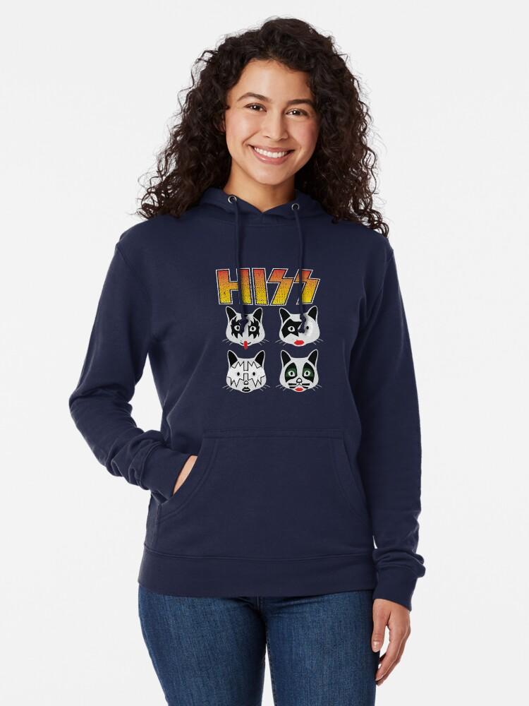 Alternate view of Hiss Kiss - Cats Rock Band Lightweight Hoodie