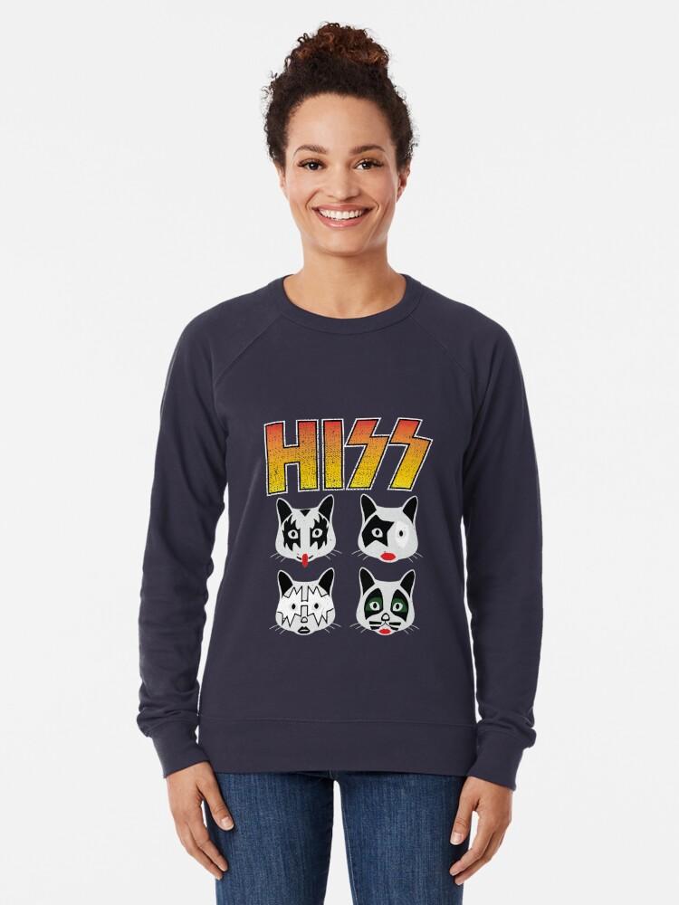 Alternate view of Hiss Kiss - Cats Rock Band Lightweight Sweatshirt