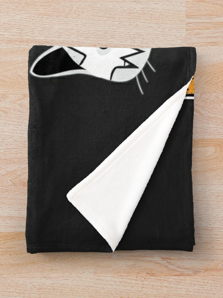 Alternate view of Hiss Kiss - Cats Rock Band Throw Blanket