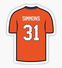 Justin Simmons Jersey - Orange Edition Sticker