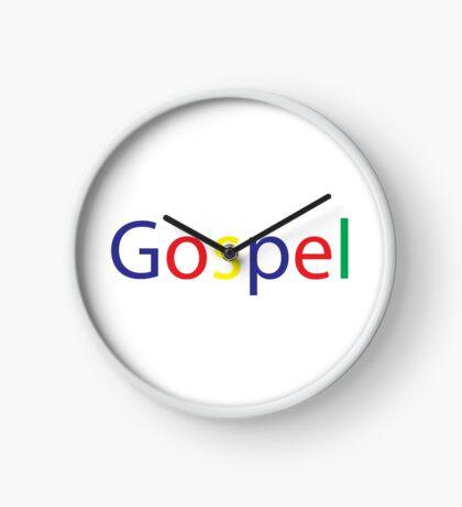 Gospel in Google Colors Clock