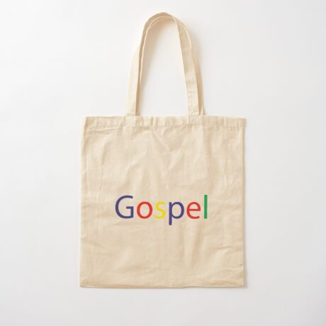 Gospel in Google Colors Cotton Tote Bag