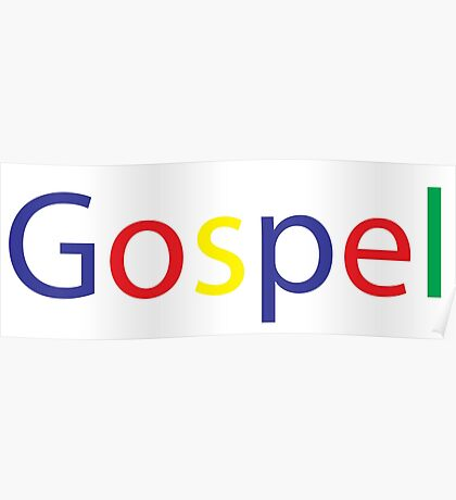 Gospel in Google Colors Poster