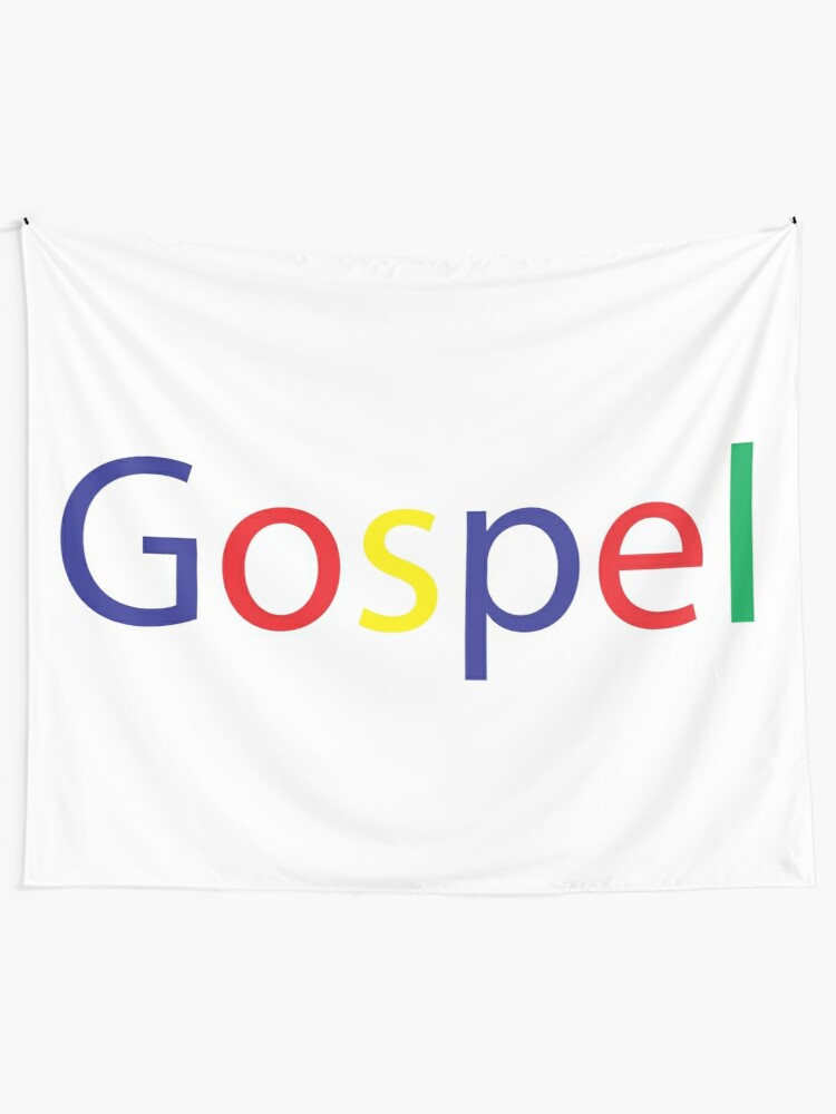 Alternate view of Gospel in Google Colors Wall Tapestry