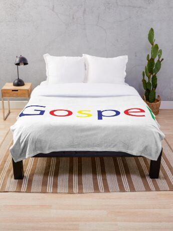 Gospel in Google Colors Throw Blanket