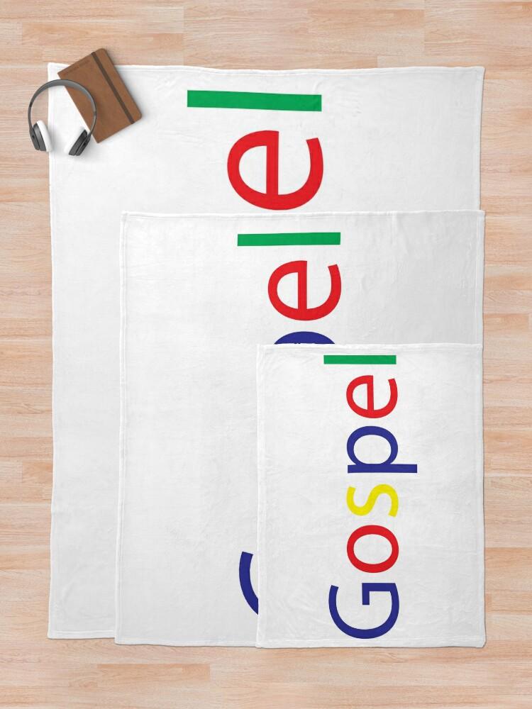 Alternate view of Gospel in Google Colors Throw Blanket
