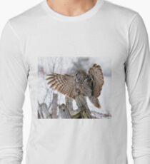 Great Grey Owl - Dunrobin, Ontario Long Sleeve T-Shirt