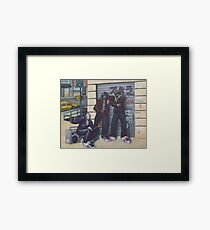 3 Heroes and a Boombox Framed Print