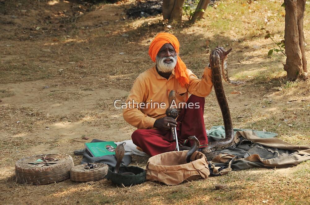 Snake charmer, Fatepursikri, India by Catherine Ames