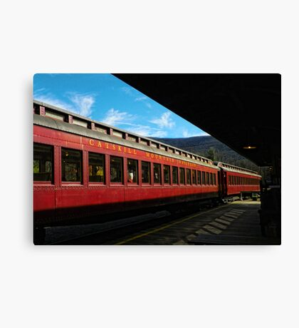 Waiting at the Station Canvas Print