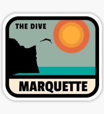 Marquette Black Rocks The Dive Sticker