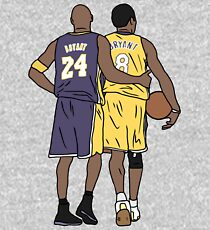 Young Kobe And Old Kobe Kids Pullover Hoodie