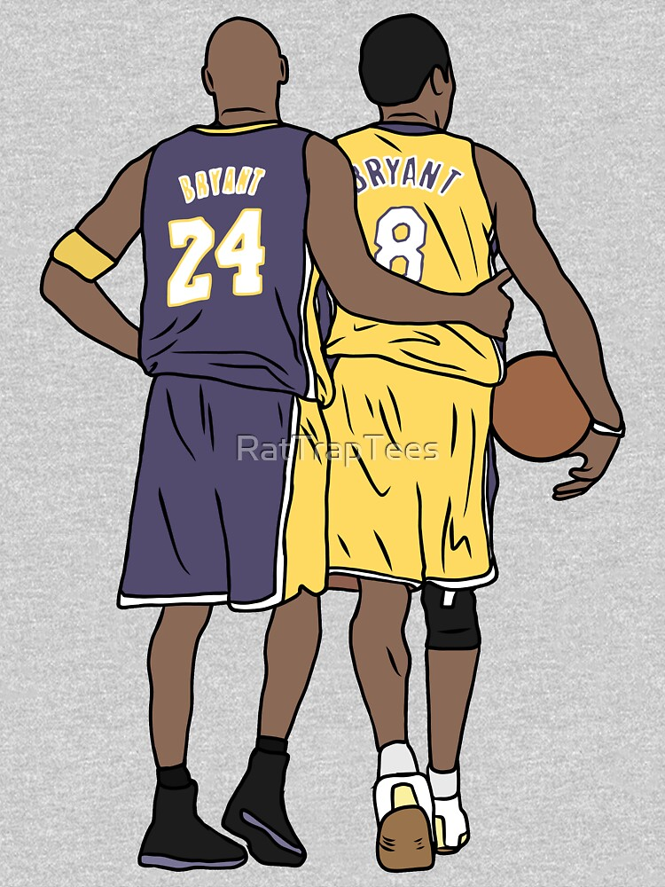 Young Kobe And Old Kobe by RatTrapTees