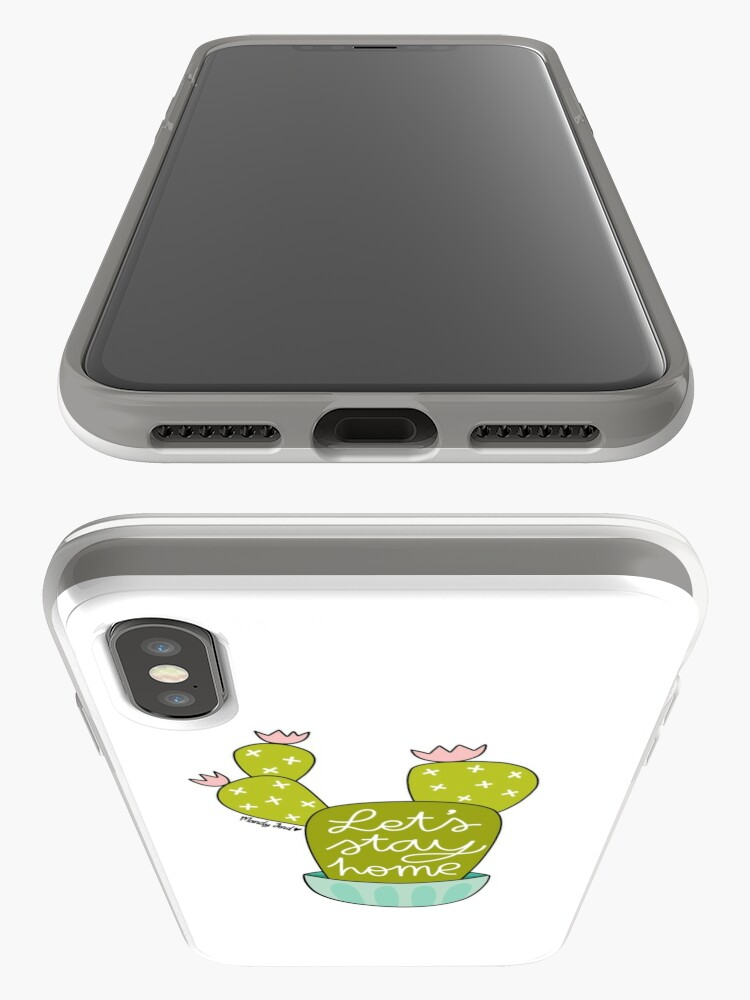 Alternate view of Let's Stay Home iPhone Case & Cover