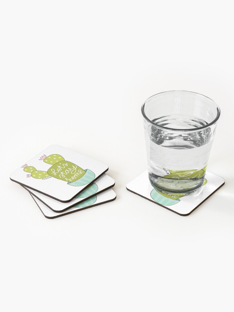 Alternate view of Let's Stay Home Coasters (Set of 4)