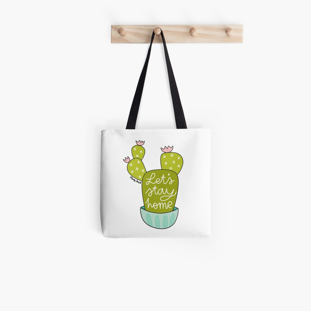Let's Stay Home Tote Bag
