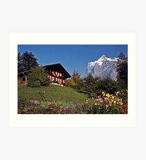 Chalet near Grindelwald, Switzerland Art Print