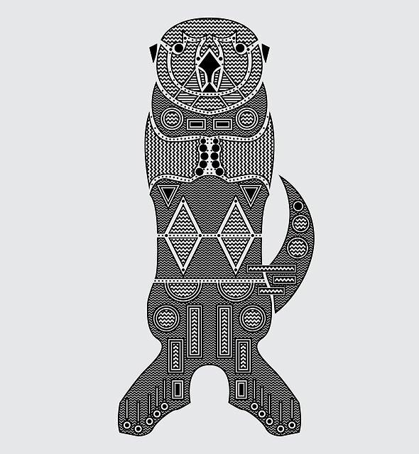 Sea Otter by Hinterlund