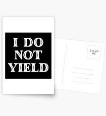 Feminist Gift - I Do Not Yield  Postcards