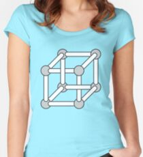 Paradox Box (Optical Illusion Cube) Women's Fitted Scoop T-Shirt