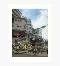Bicyles Art Print